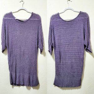 Maurices Lavender Open Knit Sweater
